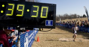 Lt. j.g. Aaron Lanzel takes second place at the Armed Forces Cross Country Championship with a time of 39:32. Source: Wiki Commons